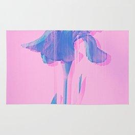 Light Blue and Blush Glitched Iris Rug