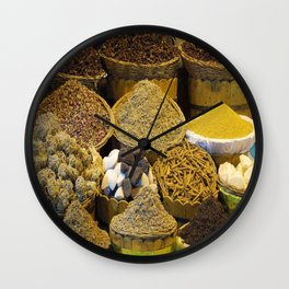 Egyptian Spices Wall Clock
