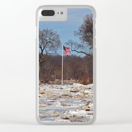 Old Glory on Ice Clear iPhone Case