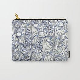 Reverie (in Ivory and Blue) Carry-All Pouch