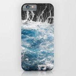 Blue Ocean and Black Rocks iPhone Case