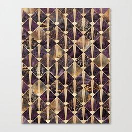 Art Deco Tiles - Plum Canvas Print