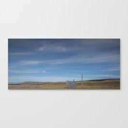 Shelter on the Tekapo to Pukaki mountain road Canvas Print