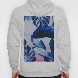 Cobalt blue tropical leaves Hoody