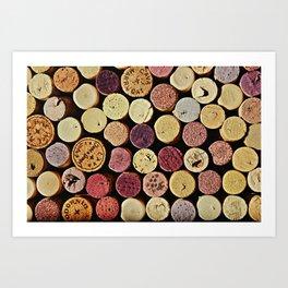 Wine Tops Art Print