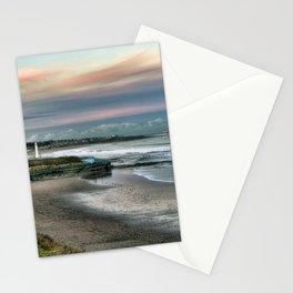Seaburn lighthouse and coastline Stationery Cards