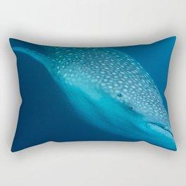 Whale shark stare Rectangular Pillow