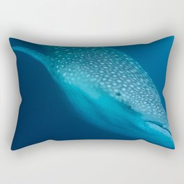 Whale shark stare Rectangular Pillow