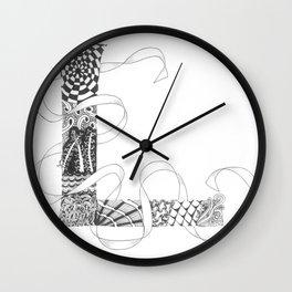 """Zenletter """"L"""" Wall Clock"""