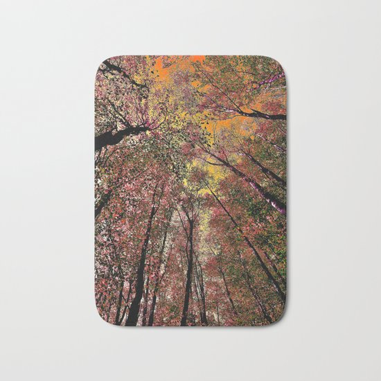 Colored forest Bath Mat