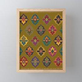 Moroccan tapis traditional Framed Mini Art Print