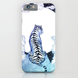 Ombre Tiger Moon iPhone Case