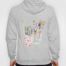 Art Tools: pencils and brushes (ink & watercolour) Hoody