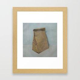 Schrödinger's bubble gum (brown paper bag) Framed Art Print