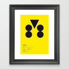 Dortmund geometric logo Framed Art Print