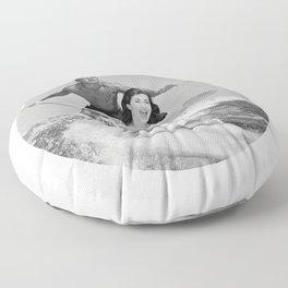 Tandem Couple Surfing Floor Pillow