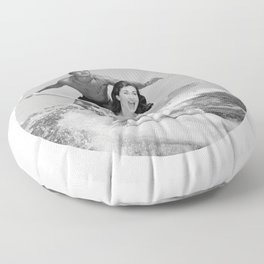 Tandem Couple Surfing Floor Pillow