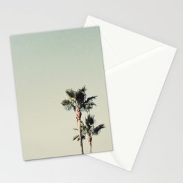 Sea Green Palms Stationery Cards
