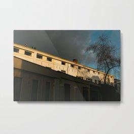 Utrecht sundown in city-center | dark clouds mood | the Netherlands | travel fine art photography Metal Print