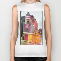 barbie Biker Tanks featuring Barbie House by Kim Ramage
