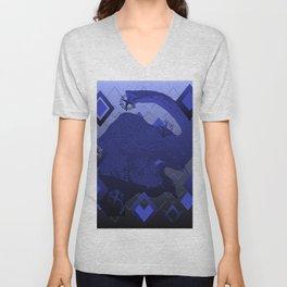 Elephant Blue Unisex V-Neck