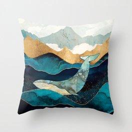 Blue Whale Throw Pillow