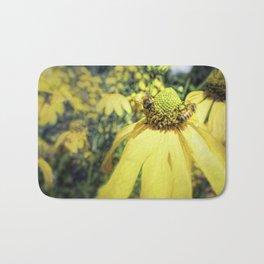 Bees on Yellow Flower Bath Mat