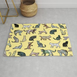 Cats shaped Marble - Sun Yellow Rug