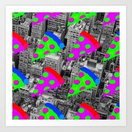Pizza Invasion NYC Art Print