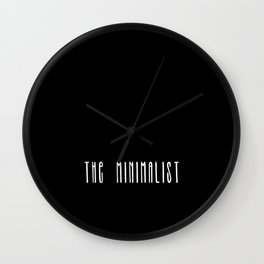 Minimalist text in black and white Wall Clock