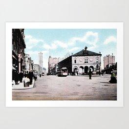 ca 1900 Herald Square New York City Art Print