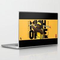 kill bill Laptop & iPad Skins featuring MICHONNE - THE WALKING DEAD MASHUP KILL BILL by Akyanyme