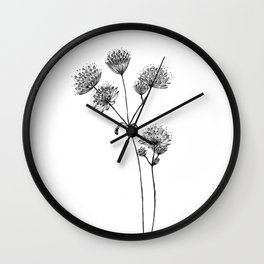 Astrantia Wall Clock
