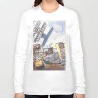 wall e Long Sleeve T-shirts featuring WALL-E & CL4P-TP by JadeJonesArt