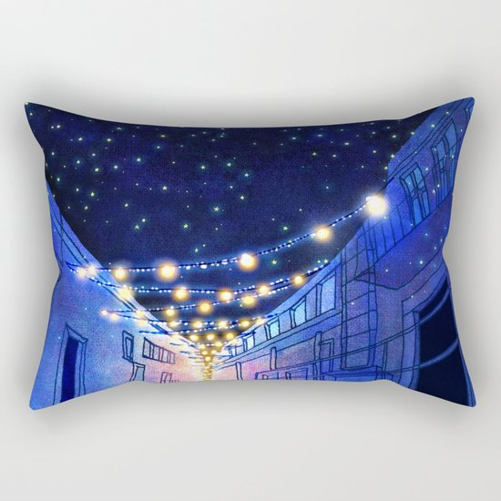 Night in the city Rectangular Pillow