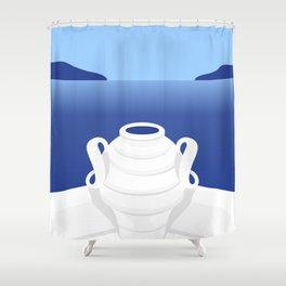 Santorini #03 Shower Curtain