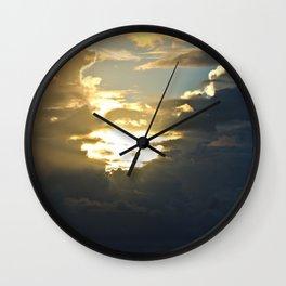 Sun Peek Wall Clock