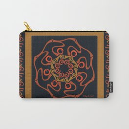 Hope Mandala with Border - Brown Black Carry-All Pouch