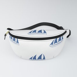 Blue Sailboat Pattern Fanny Pack