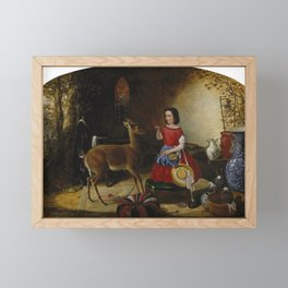 Arthur Fitzwilliam Tait - The Reprimand. Ah! You Naughty Fawn (1852) Framed Mini Art Print