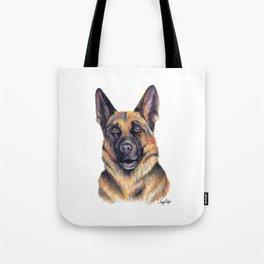 German Shepard - Dog Portrait Tote Bag