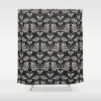 floral pattern Shower Curtains featuring Floral Pattern by Robin Curtiss