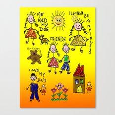 Children Collage Canvas Print