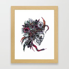 Death God Itzamna Framed Art Print