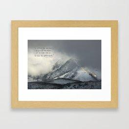 """Kiss the earth again""... Framed Art Print"