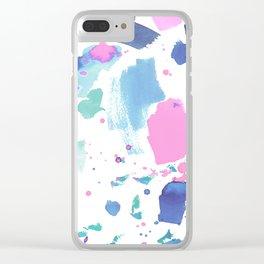 Watercolor Splash 2 Clear iPhone Case