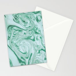 Marble Acrylic Jade Green Stationery Cards