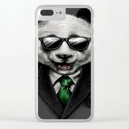 Panda Cool Clear iPhone Case