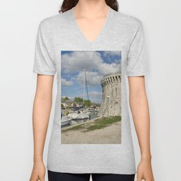 St Marks Tower of Trogir  Unisex V-Neck