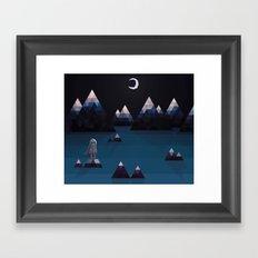 so quiet Framed Art Print